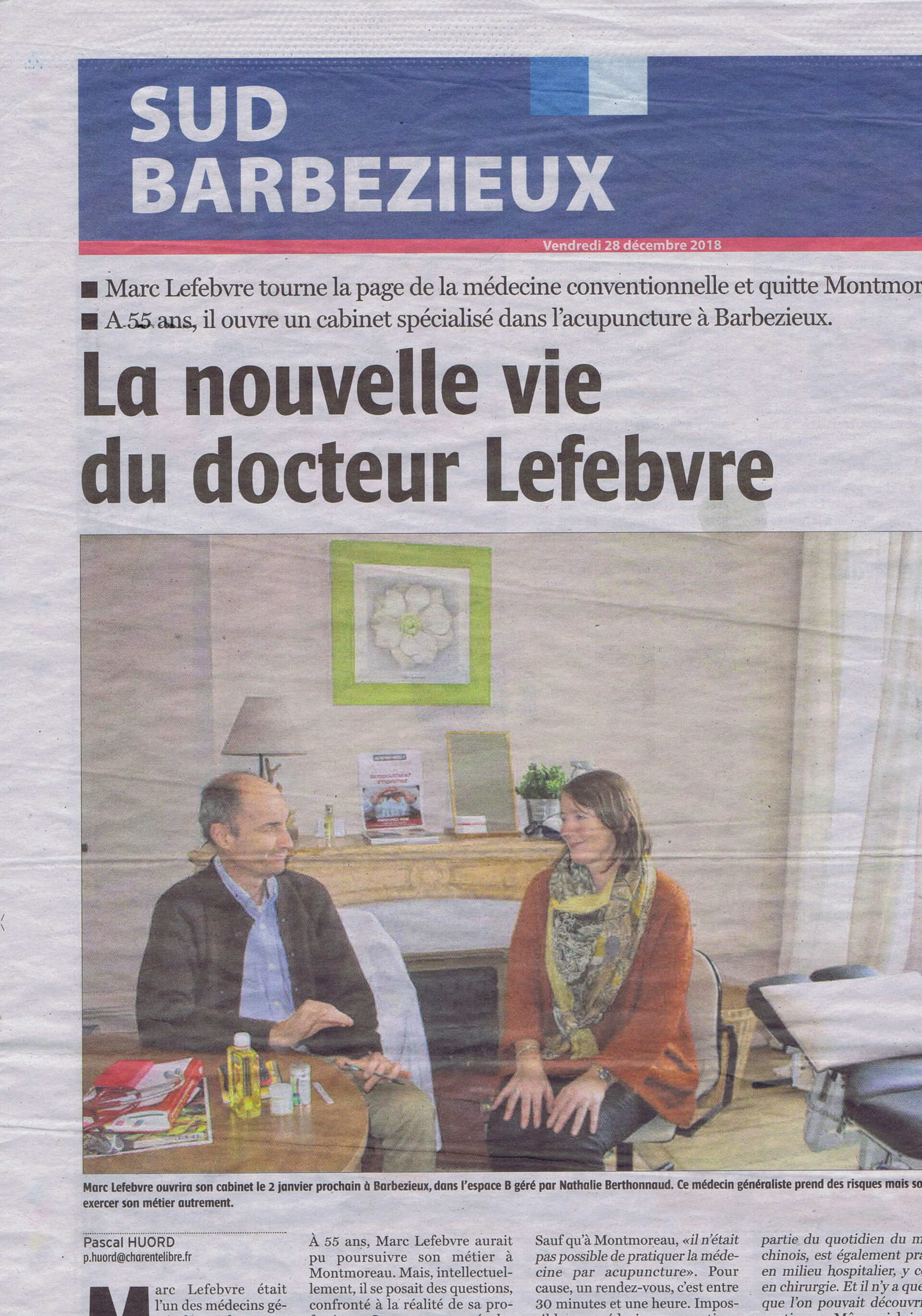 Charente libre Article